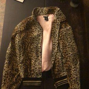 Leopard bomber jacket